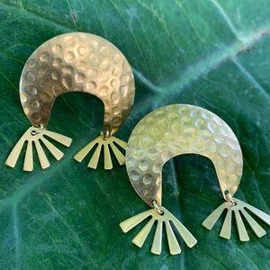 SALE❗️Moon Shape Gold Brass Earring